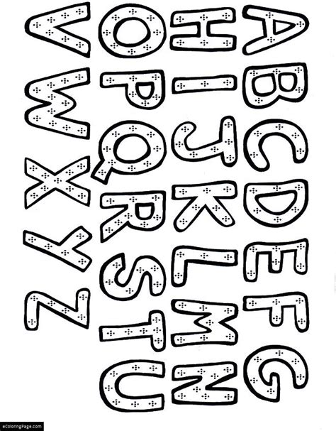 coloring pages for learning the alphabet alphabet abc s coloring pages ecoloringpage com
