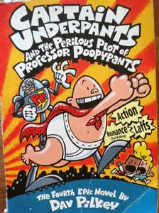 the talking part is books why i am in with captain underpants the oils
