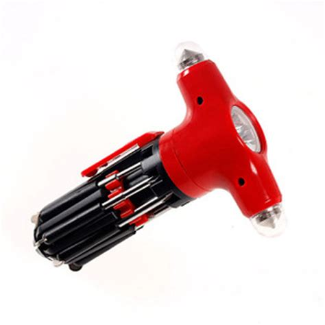 Safety Hammer Flashlight buy 8in1 car safety hammer flashlight screwdriver broken windows device bazaargadgets