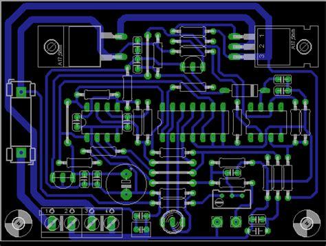 aplikasi layout pcb berinovasi dengan elektronika rangkaian charger tenaga