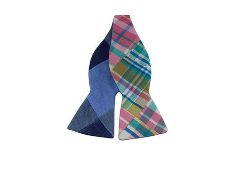 Patchwork Bow Tie - patchwork reversible bow tie and dandy