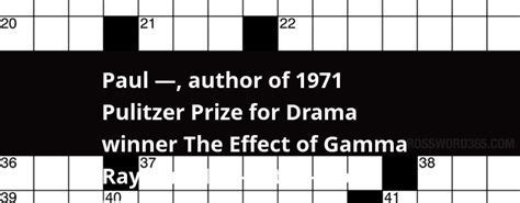 Pulitzer Prize For History Also Search For Paul Author Of 1971 Pulitzer Prize For Drama Winner The Effect Of Gamma Rays On