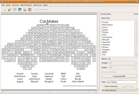Free Lookup Free Word Search Creator For Linux Word Search Creator For Linux 1 0