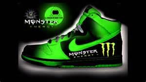 custom designed nikeshoes redbull monster energy nike greyple