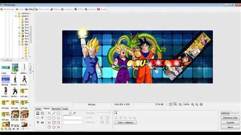 como hacer una portada para facebook en photoscape youtube como hacer una portada de drag 243 n ball z en photoscape