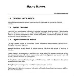 User Manual Document Template by Sle User Manual 9 Documents In Pdf