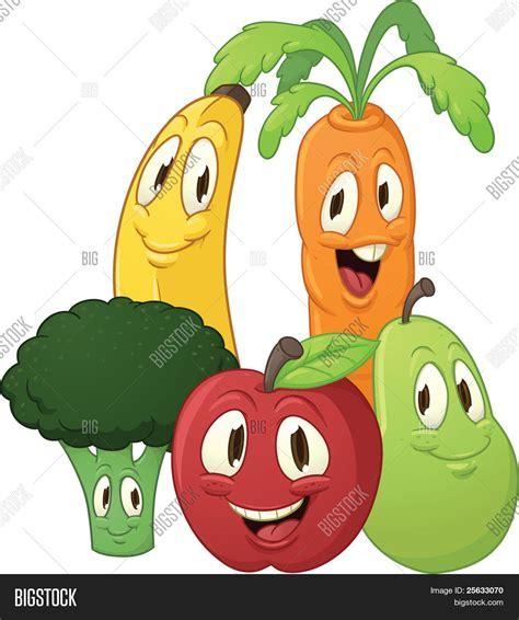 imagenes animadas de frutas y verduras vector y foto dibujos animados frutas y vegetales bigstock