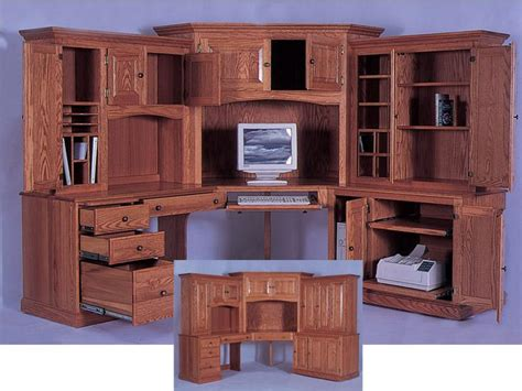 Corner Computer Desk Hutch Cabinets Shelving How Is The Basic Construction Of Building A Corner Desk With Hutch Corner