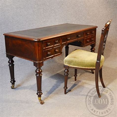 antique study table antique rosewood writing desk leather library