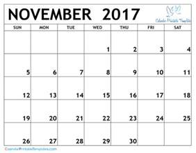 November Calendar Template by November 2017 Calendar Printable Template Pdf Uk Usa