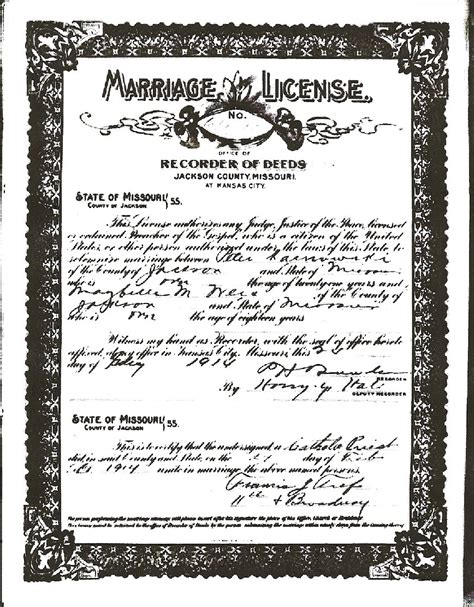 Kansas Marriage Records Marriage Records Boniface Karnowski And Maybelle
