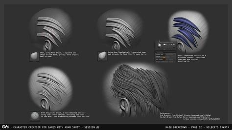 basic tutorial for zbrush zbrush tutorial sculpting beard and hair by nilberto