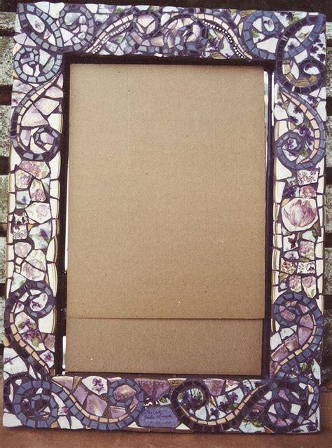 Bathroom Mirror Frame Ideas mosaic frames ceramic art by charles lucas
