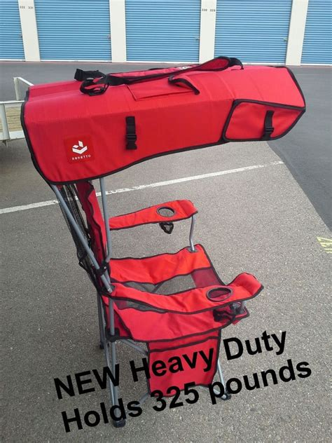heavy duty folding chair with canopy renetto 2 0 heavy duty original canopy chair mesh