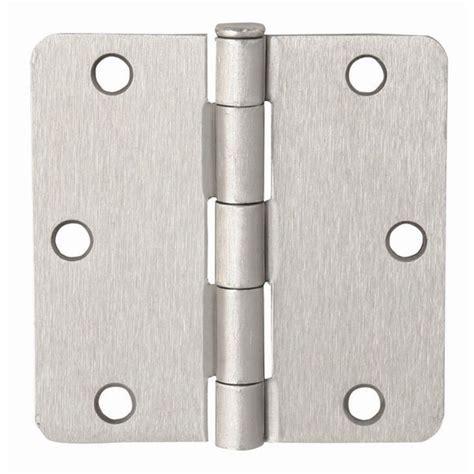 Design House Brand Door Hardware by Design House 3 1 2 In X 3 1 2 In 1 4 In Radius Satin