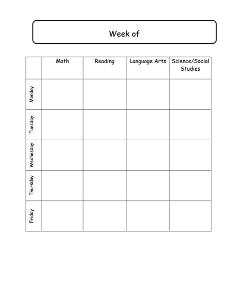 free printable lesson plans template fresh blank lesson plan