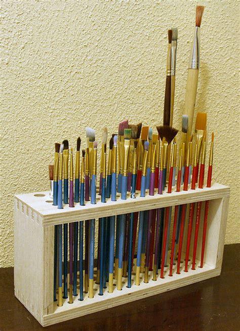 pattern for paint brush holder wooden paintbrush holder for craft brushes