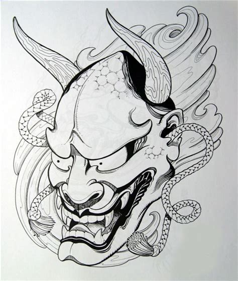 japanese mask drawing www pixshark com images