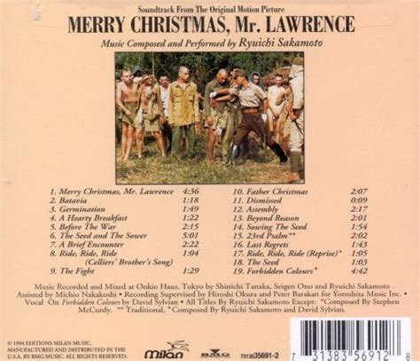 merry christmas  lawrence original soundtrack ryuichi sakamoto songs reviews credits