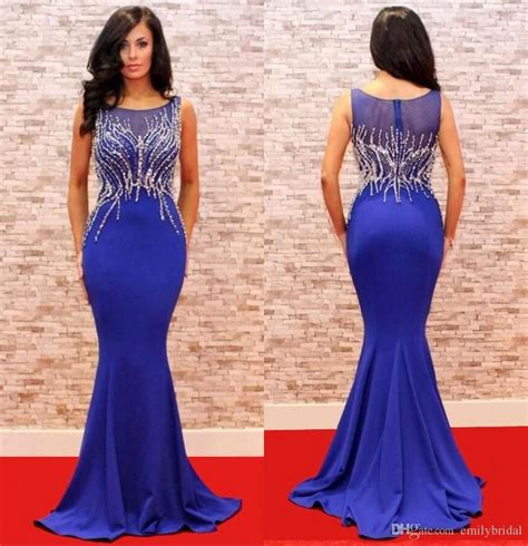 styles for dinner gown elegant mermaid style blue evening dresses long crystal