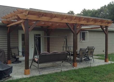 covered pergola plans design diy how to build 12 x24 step by step instructions ebay