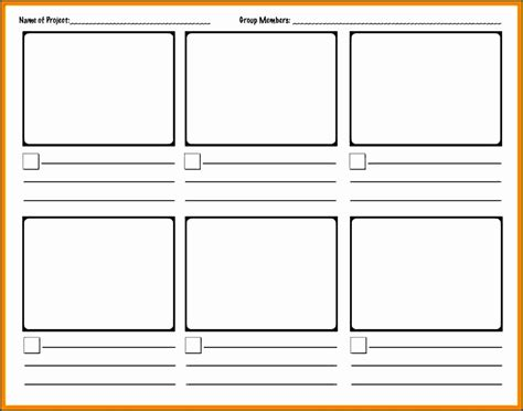 storyboard template word 6 storyboard template in word sletemplatess