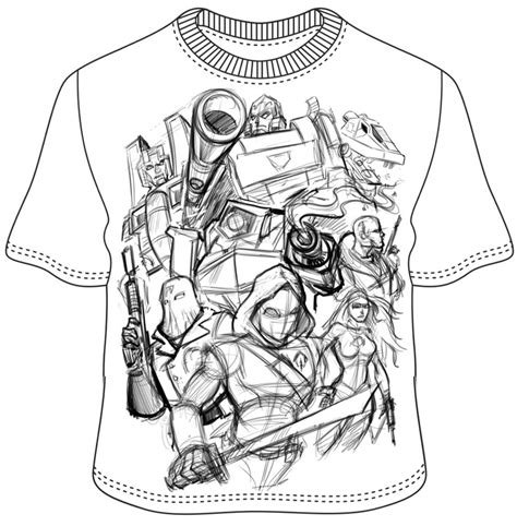 T Shirt Design Sketches by Cobra And Decepticons T Shirt Design Flyland Designs