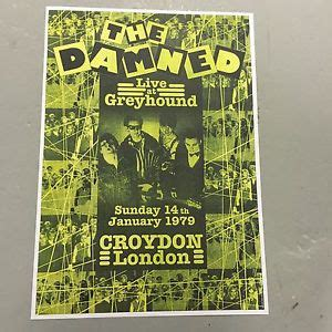 new year january 1979 the damned concert poster greyhound 14th january