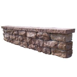 home depot decorative stone 112 in fossill brown outdoor decorative concrete seat