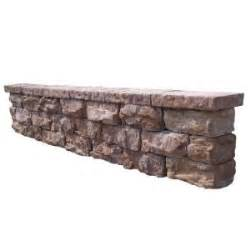 64 in fossill brown outdoor decorative seat wall fbsw64 vigoro 0 5 cu ft all purpose decorative stone 54775v