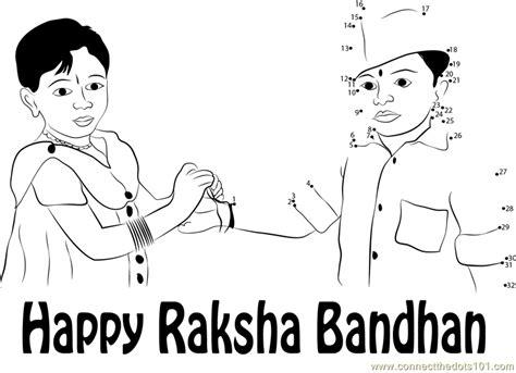 hindu festival rakhi purnima dot to dot printable