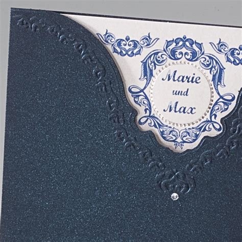 Hochzeitseinladung Dunkelblau by Hochzeitseinladung Quot Megan Quot Blaue Karte Zu Ihrer Hochzeit