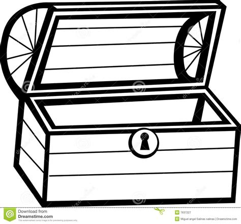 free coloring pages of outline of treasure chest