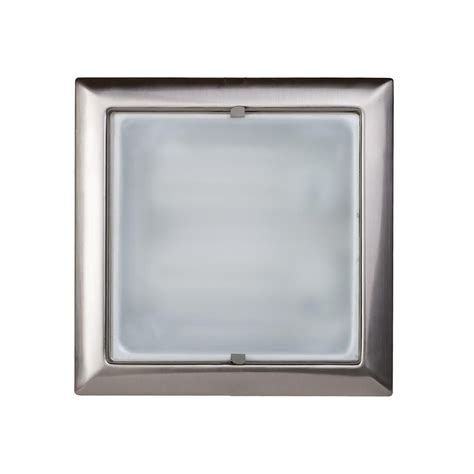 m and m lighting square recessed ceiling light satin chrome from litecraft