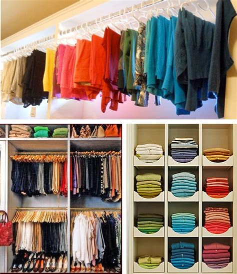 How To Store Shirts In Closet by Best 25 Color Coded Closet Ideas On Mix