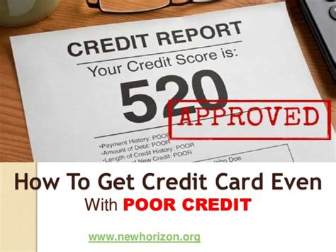 credit cards for poor credit how to get credit card even with poor credit