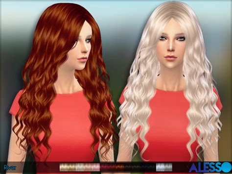 sims 4 hair the sims resource the sims resource river hair by alesso sims 4 downloads