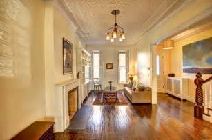 Brownstone Row House Floor Plans - how to arrange furniture in a long narrow living room