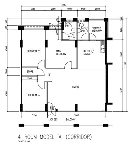 hdb flat floor plan revised 4 room hdb renovation ideas aldora muses