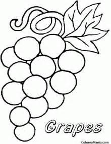 colorear roseti uvas mesa frutas dibujo colorear gratis