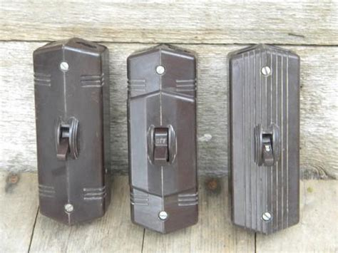 reproduction bakelite light switches lot of vintage deco bakelite architectural surface mount
