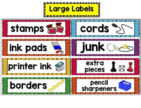 printable calendar labels for classroom 17 best images about classroom labels on pinterest