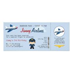 Airline Ticket Template Invitation by Airline Ticket Birthday Invitation Zazzle