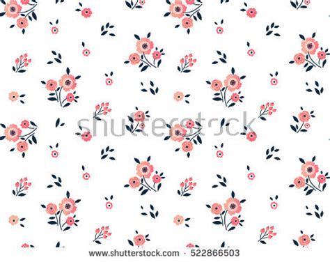 floral whimsy ecru small allover flowers from northcott cute pattern small flower small colorful stock vector
