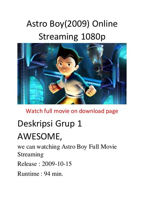 streaming film action comedy astro boy 2009 online streaming 1080p film action comedy