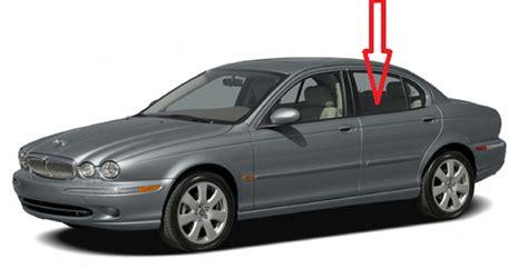 rear door glass driver side jaguar x type 4 door sedan