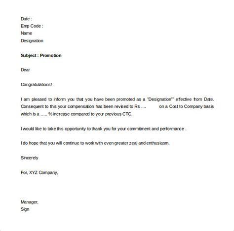 promotion letters  word  excel format   premium templates