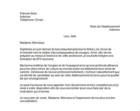 Lettre De Motivation Vendeuse Téléphonie Cover Letter Exle Exemple De Lettre De Motivation Pour Une Formation Tourisme