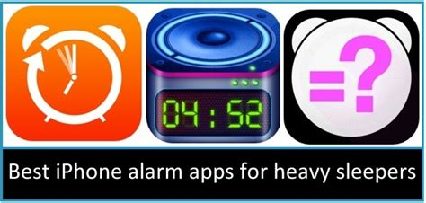 Alarm Clock App For Sleepers by Best Iphone Alarm Apps For Heavy Sleepers