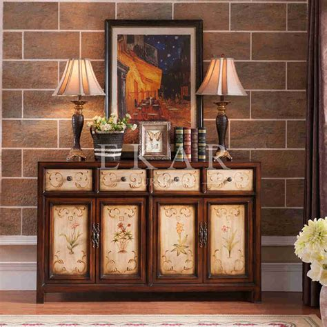 Living Room Buffet Cabinet Buffet Decoration Sideboards 4 Drawer 4 Door Sideboard
